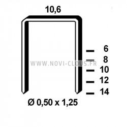 2200 Clous en bande 34° 3,1x75 Lisses acier Tête en D SANS GAZ