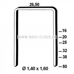 Pointes 4,00x40mm Galva en bande plastique 20° sabot d'ancrage