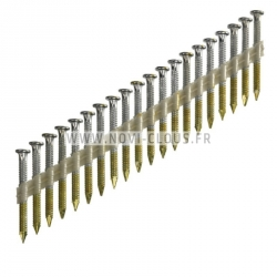 Pointes 4,00x50mm Galva en bande plastique 20° sabot d'ancrage