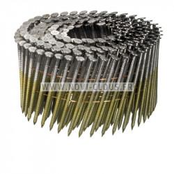 Pointes rouleau plat 16° 2,5x65 Spiralées Electro Galva