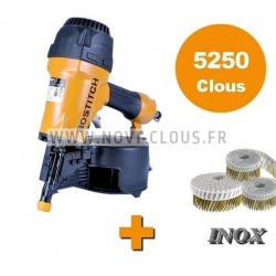 KIT BARDAGE CLOUEUR BOSTITCH N66C-2-E + 5250 pointes rouleaux 2.3x55 INOX A2