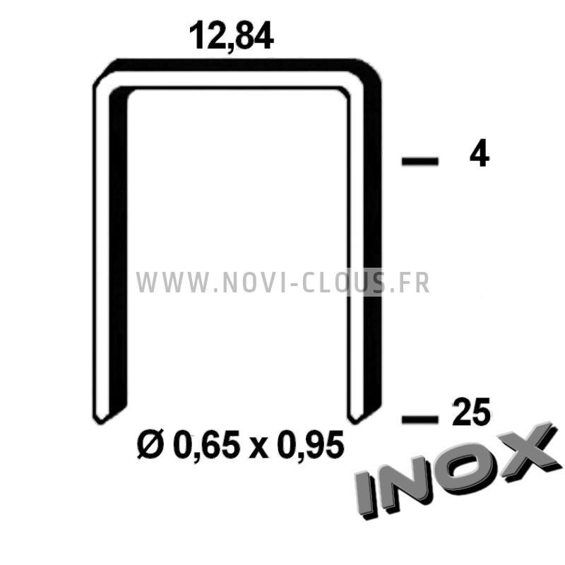 Pointes en bande 20mm Inox tête homme Mini-brads 18GA