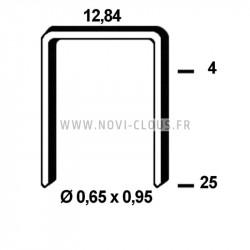 Pointes en bande 25mm Inox tête homme Mini-brads 18GA