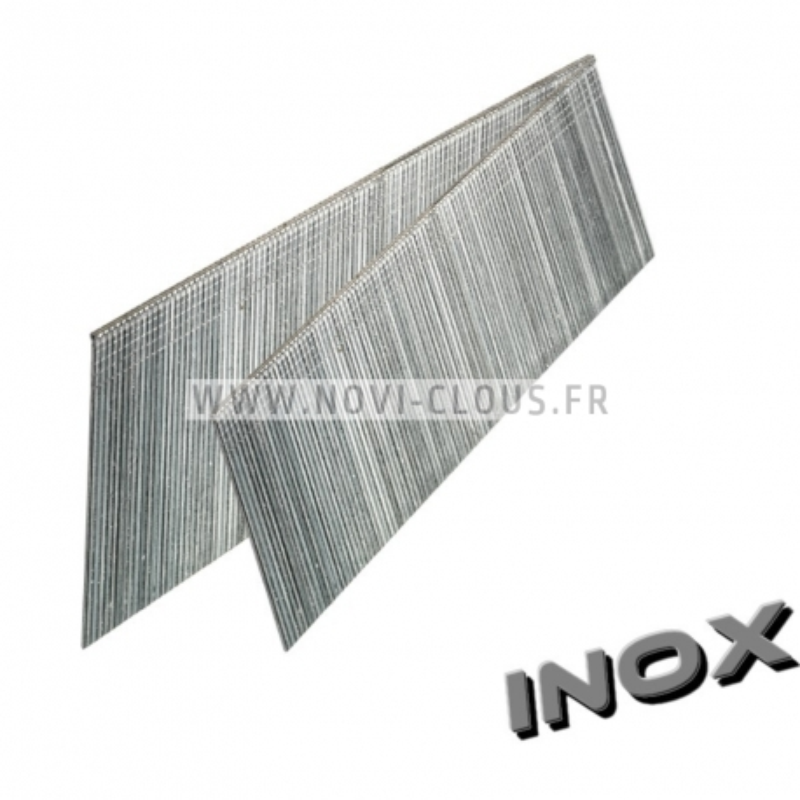 Pointes en bande 30mm Inox tête homme Mini-brads 18GA