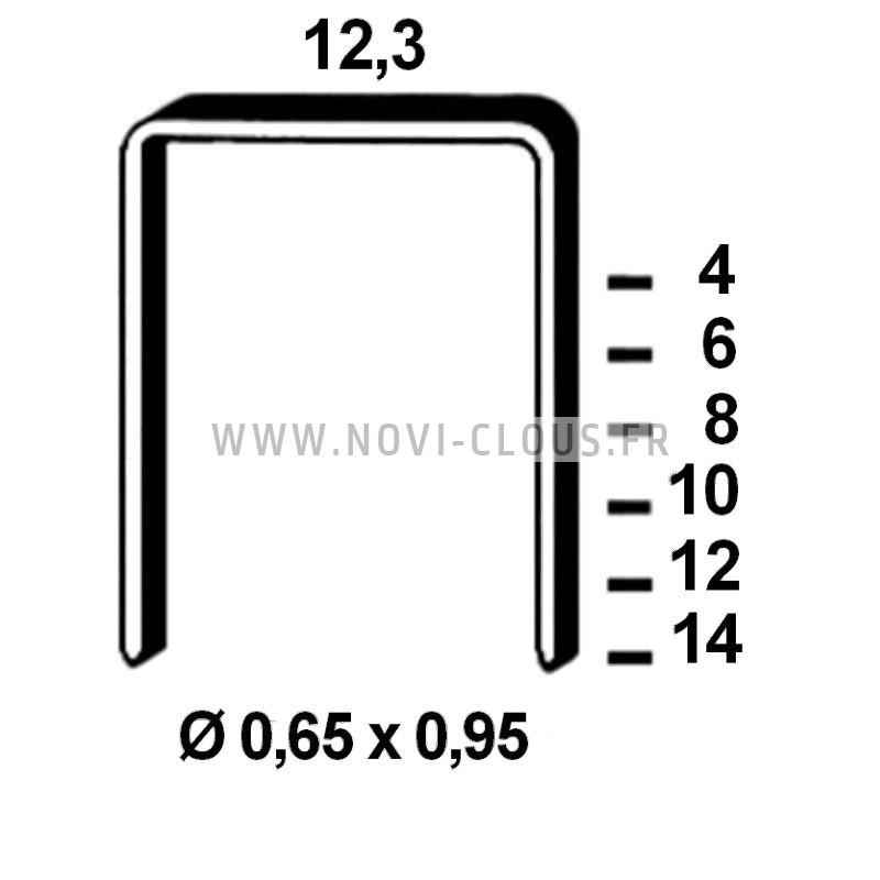 Pointes en bande 35mm Inox tête homme Mini-brads 18GA