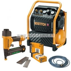LOT BOSTITCH CLOUEUR/agrafeuse SB-2IN1 +COMPRESSEUR RC10SQ-E