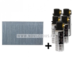 Pack pointes Mini-Brads 40 mm Galva 18GA + Gaz