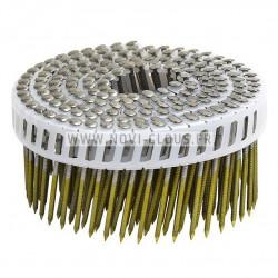 Pack pointes 20° en bande 3.1x90 mm Spiralées galva + Gaz