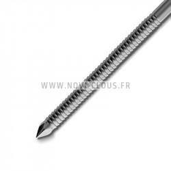 Pack pointes 20° en bande 2.8x50 mm Annelées Inox Tête bombée + Gaz