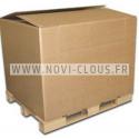 Clip double en métal pour cable/tube pour DCN890 diam.28 mm Lot de 100