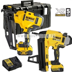 LOT DEWALT CLOUEUR BETON DCN890 + CLOUEUR FINITION DCN660 18V 5Ah