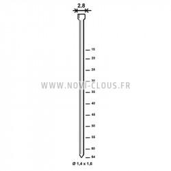 2900 Agrafes BS - 75 mm Inox A2 pour isolants épais