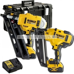 LOT DEWALT CLOUEUR CHARPENTE DCN692 + CLOUEUR FINITION DCN660 18V 5Ah