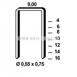 Agrafes crampillons 40 mm pour agrafeuse clôture DEWALT DCF950