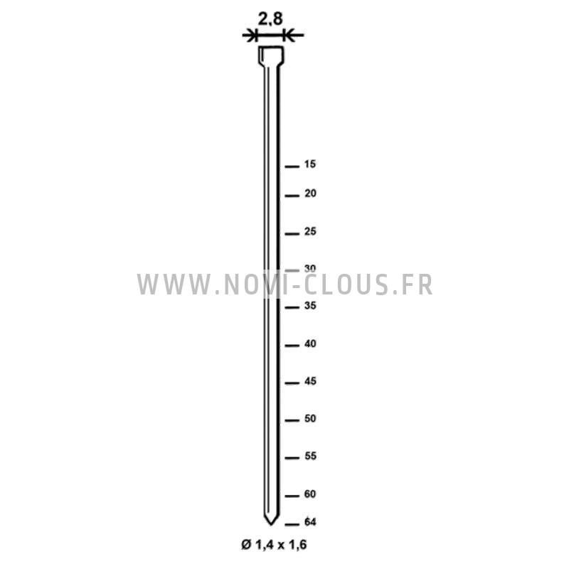 BOSTITCH N89C-2P-E CLOUEUR PNEUMATIQUE pointes rouleaux 16° 50-90mm