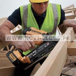 MAX HN25C CLOUEUR PNEUMATIQUE HAUTE PRESSION Béton/Acier 19-25mm