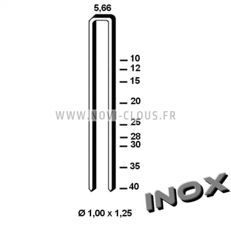 Agrafes 90 - 25mm Inox