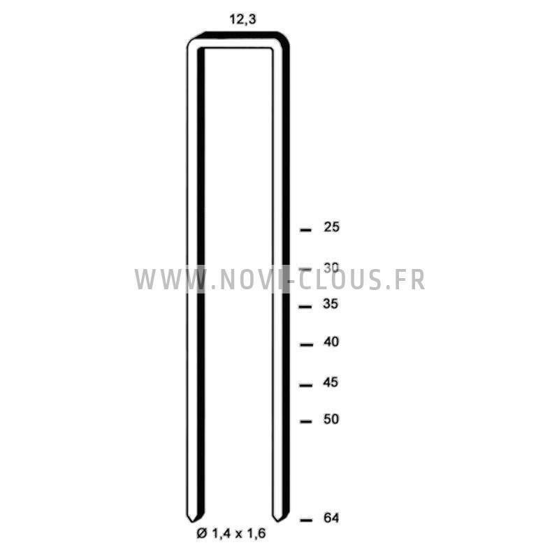 Agrafes G5562 - 64mm Galva