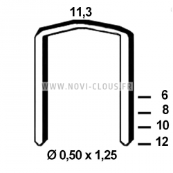 Agrafes STCR 5019 - 8mm Galva