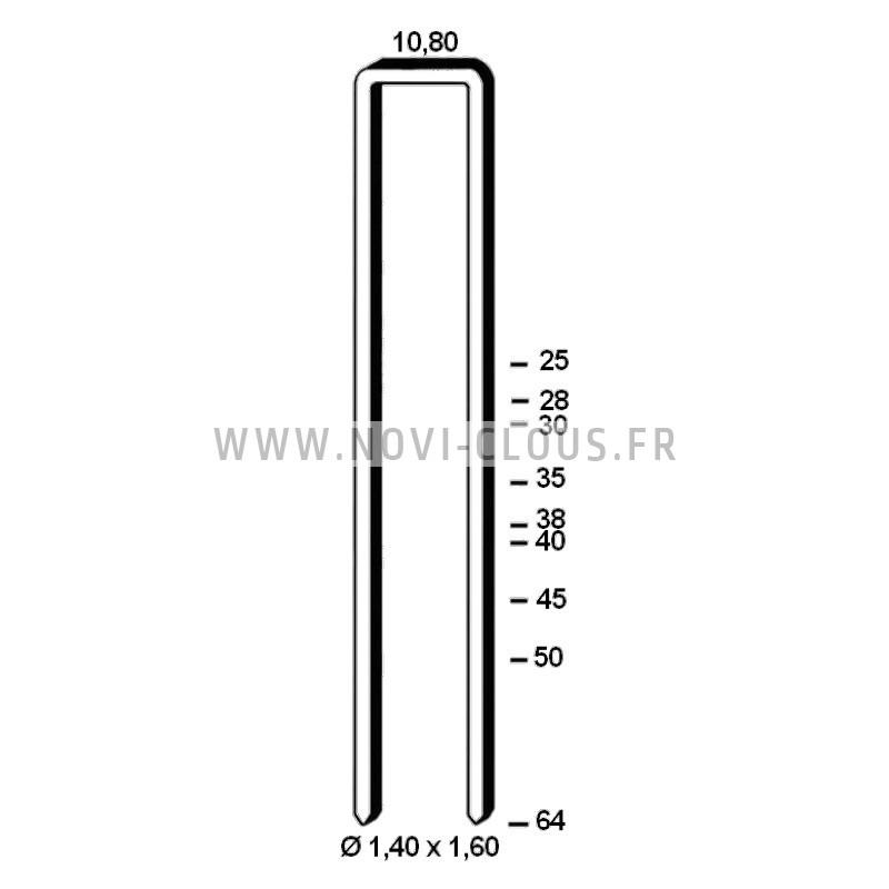 2200 Clous en bande 34° 2,8x50 Annelés acier Tête en D SANS GAZ