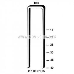 2200 Clous en bande 34° 2,8x63 Annelés acier Tête en D SANS GAZ