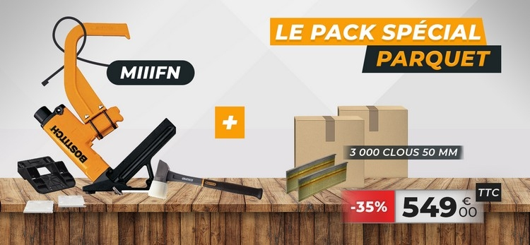 Lot Cloueur parquet + 3000 pointes