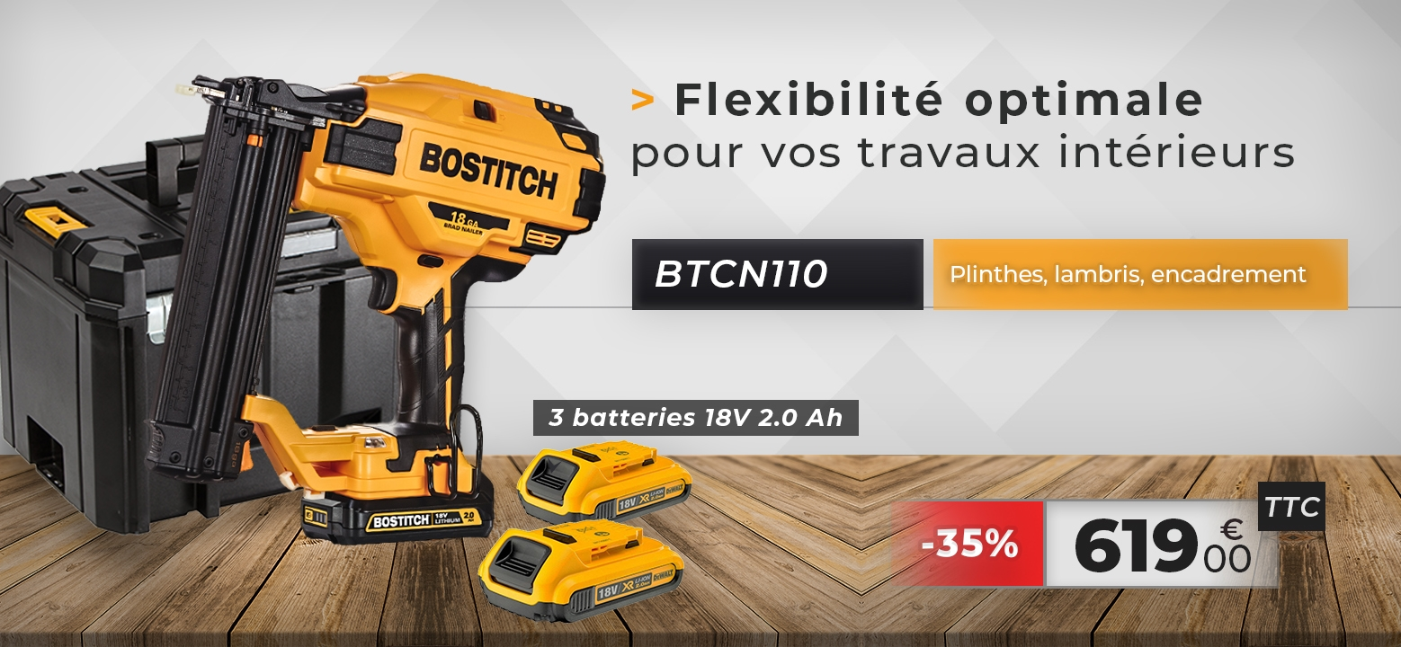 BOSTITCH BTCN 110 18V 2.0Ah